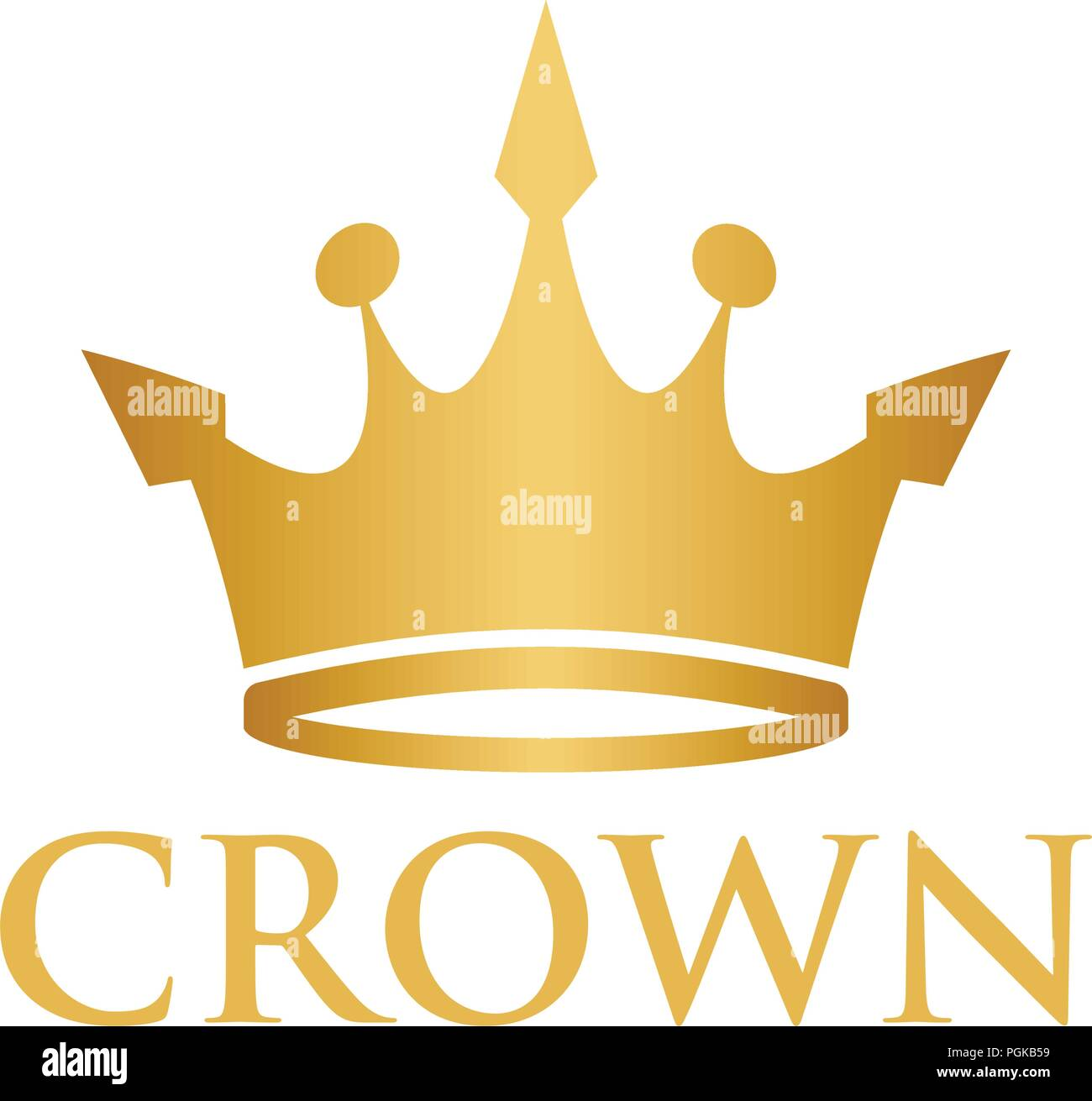 Illustration Of King Queen Crown Logo Design Template Stock Vector