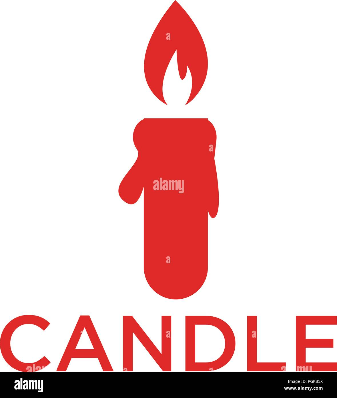 illustration of red candle icon design template vector stock vector
