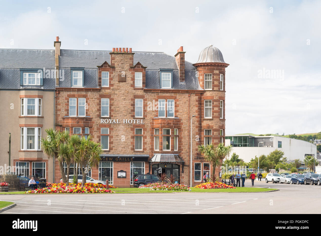 The Royal Hotel, Campbeltown, Kintyre, Argyll and Bute, Scotland, UK - Stock Image