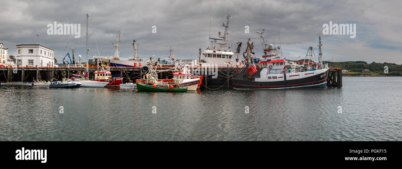 Killybegs fishing harbour Donegal Ireland - Stock Image
