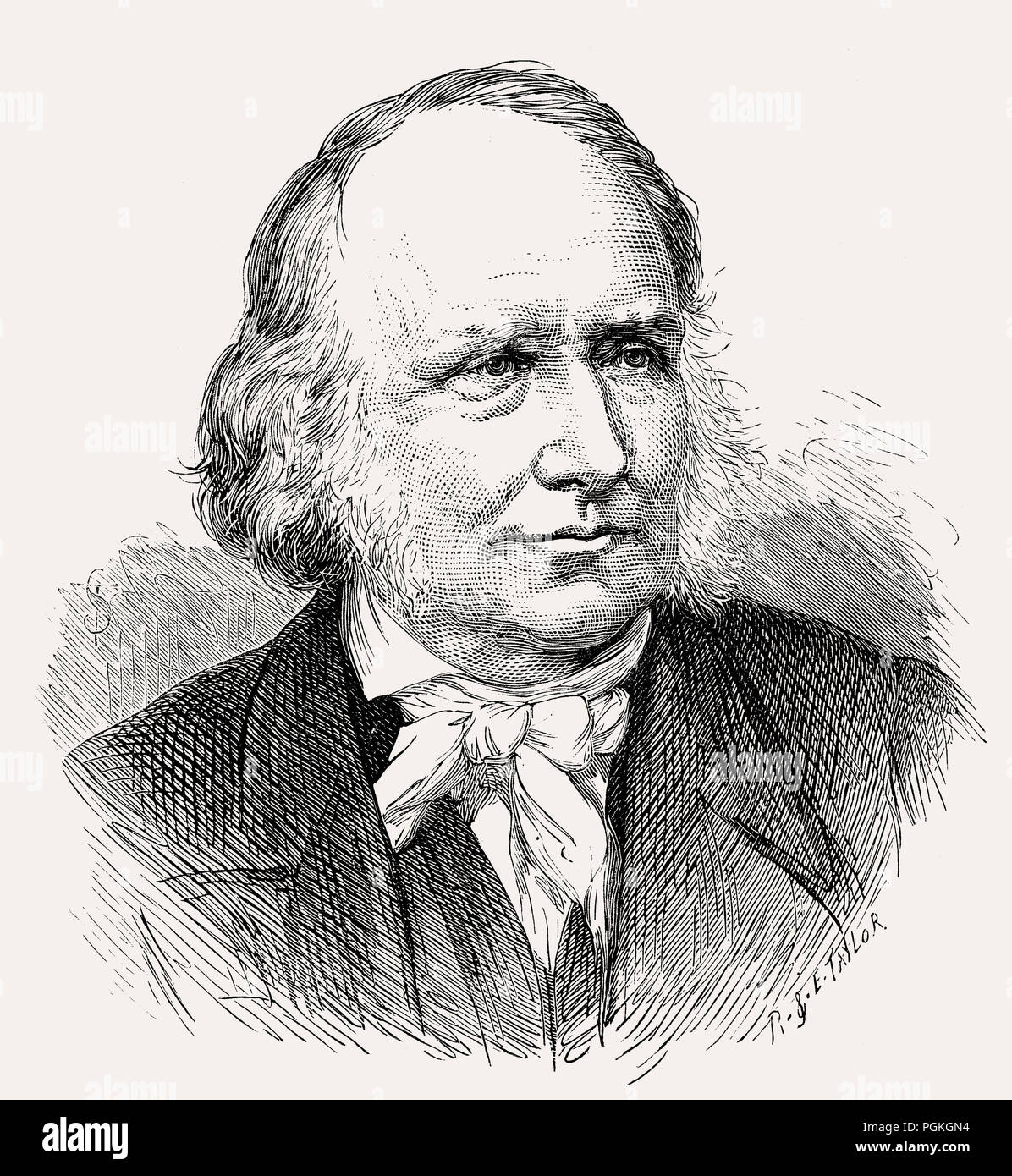 Rev Thomas Guthrie, 1803 – 1873, a Scottish divine and philanthropist Stock Photo