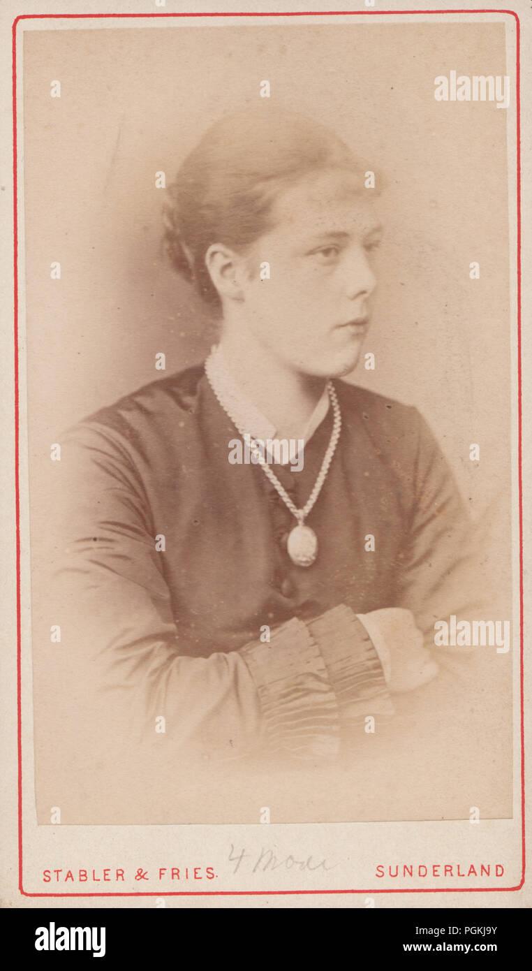 Sunderland CDV Carte De Visite Of A Victorian Lady Named As Mrs Hedley