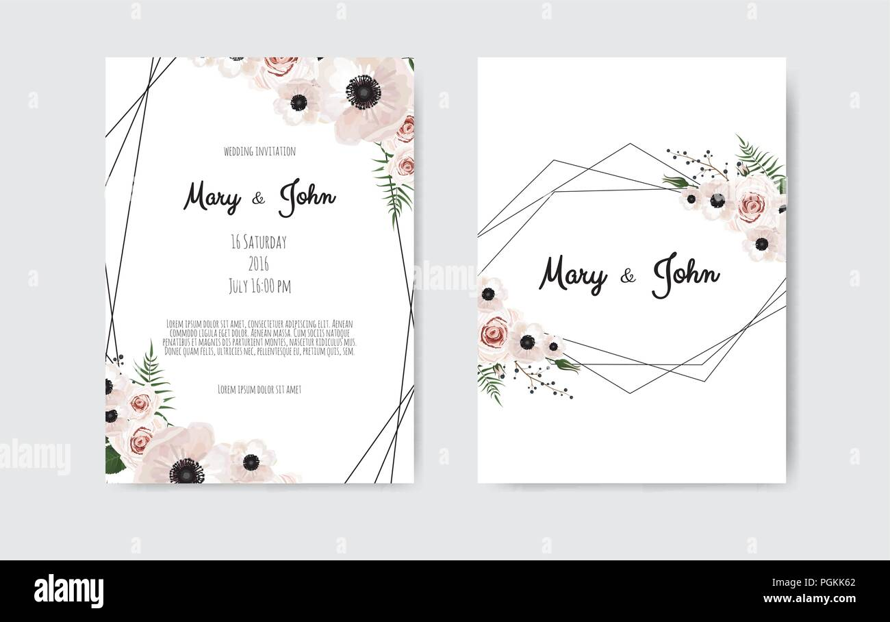 Wedding Invite Invitation Botanical Wedding Invitation Card