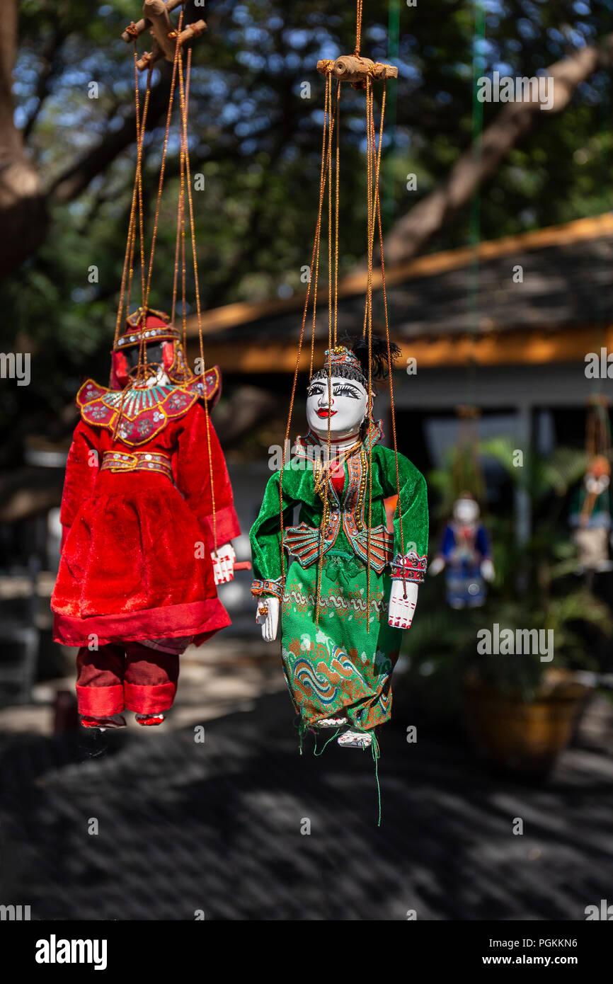 Yoke The Traditional Burmese Puppets - Stock Image