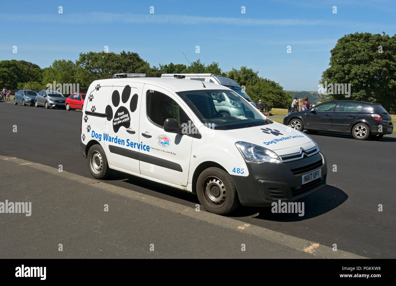 Dog warden service van Scarborough North Yorkshire England UK United Kingdom GB Great Britain - Stock Image