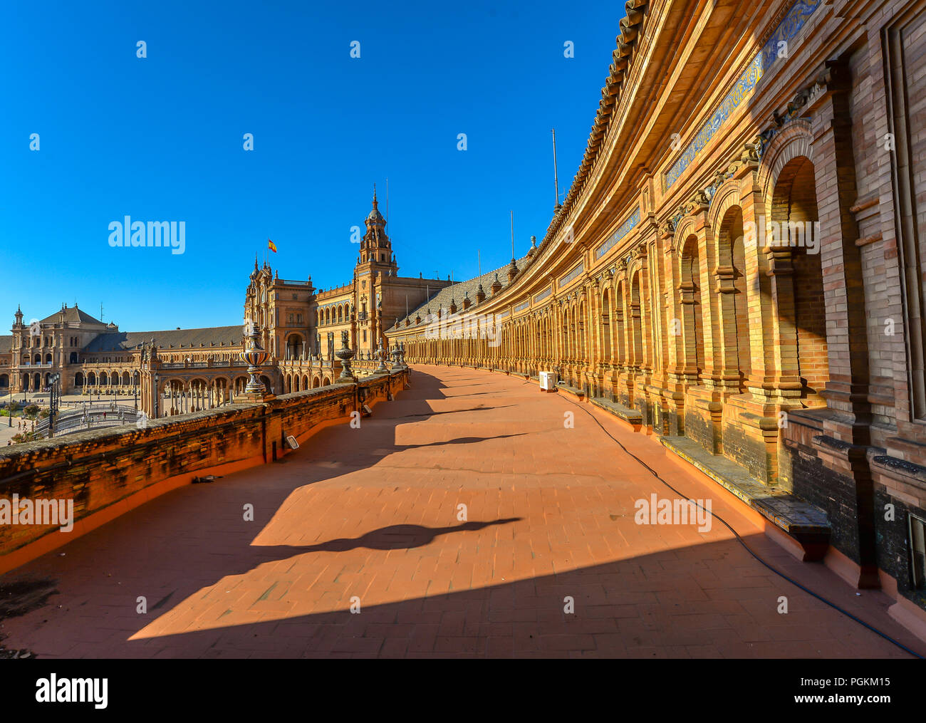 Plaza Espana - Seville - Spain - Stock Image