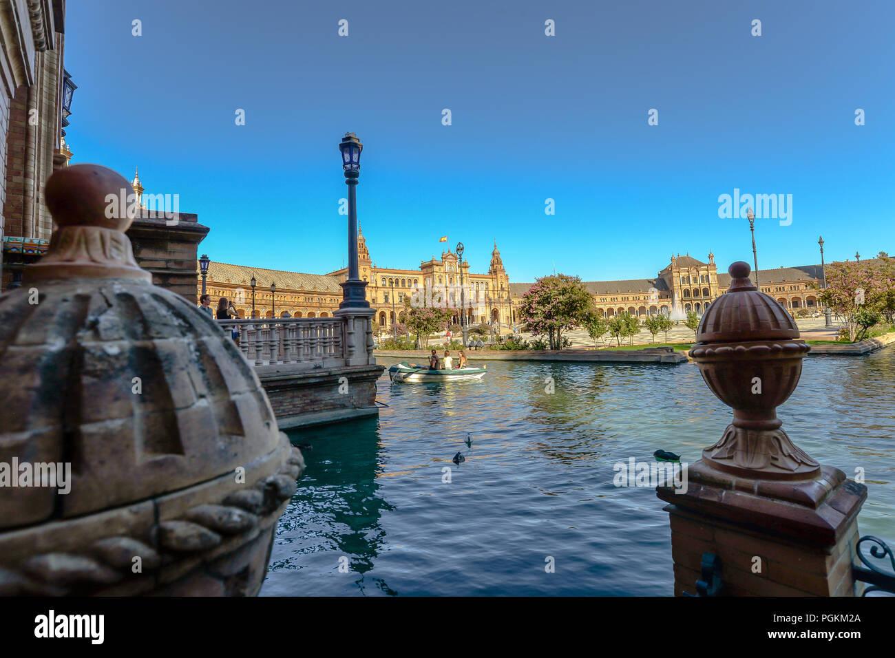 Plaza Espana - Seville - Spain - Stock Image