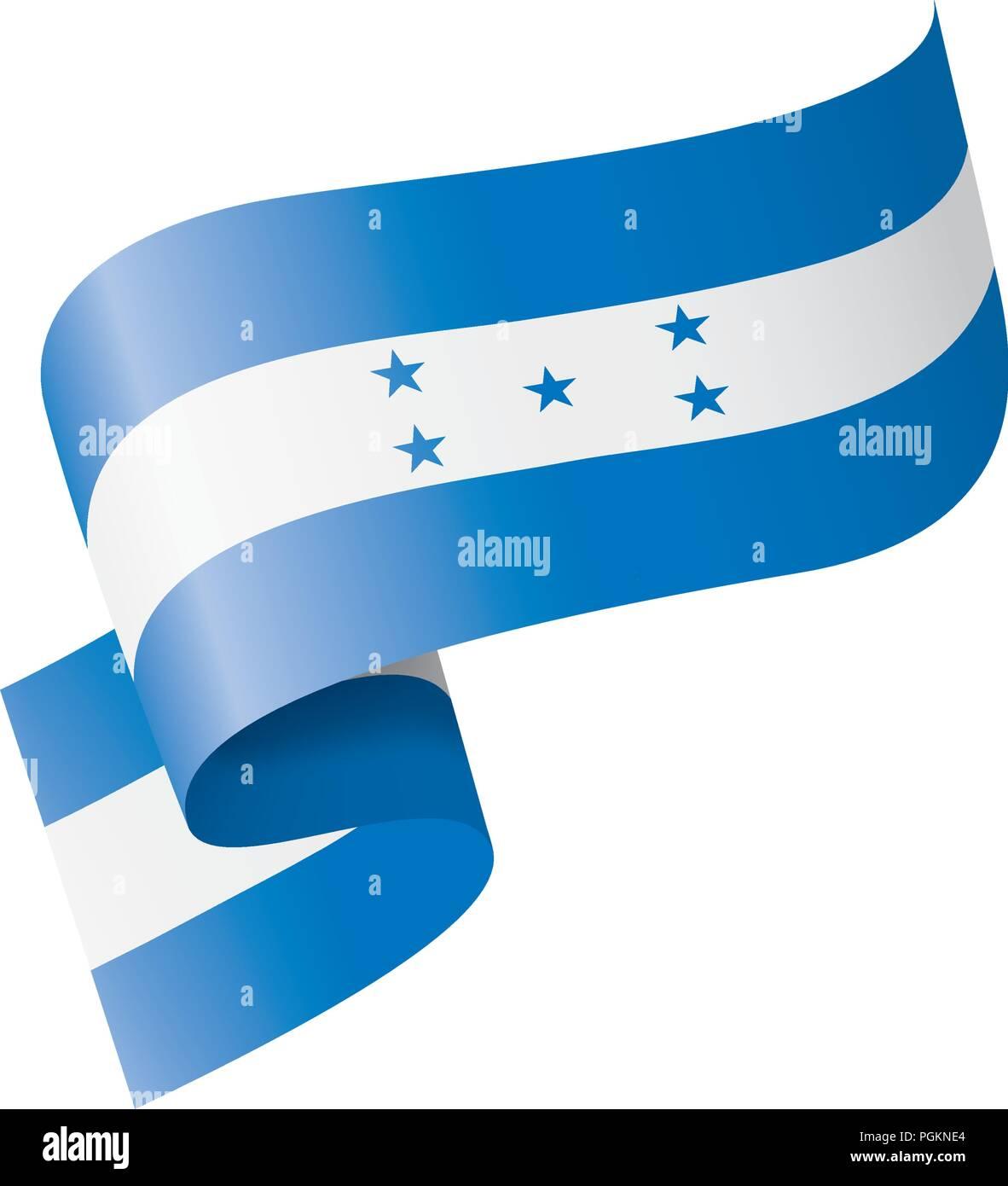 Honduras flag, vector illustration on a white background Stock Vector