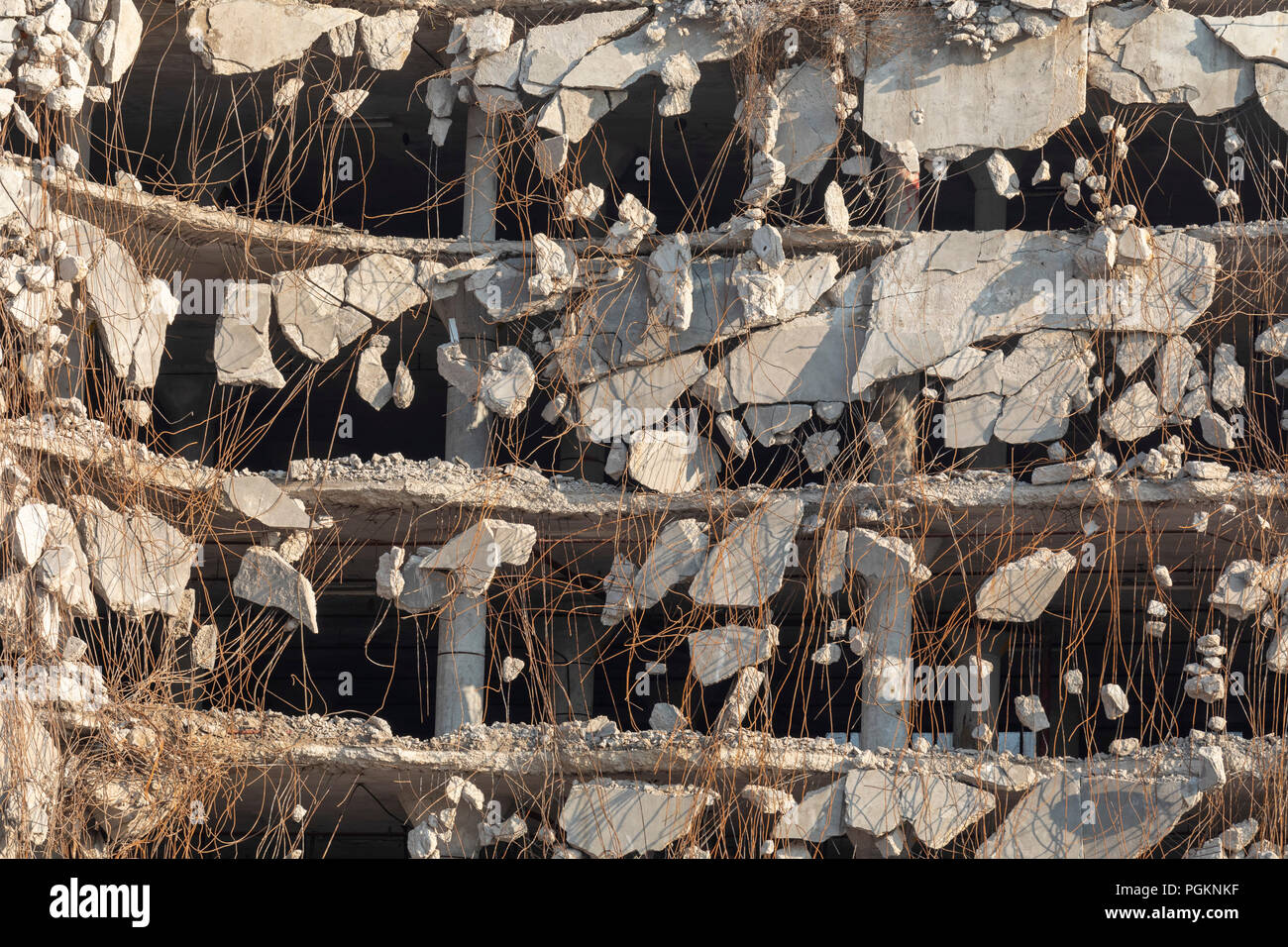 Rock Island, Illinois - Demolition of the Rock Island Plow Company building. Subsequently used by J.I. Case, the building had been vacant since 1988. - Stock Image
