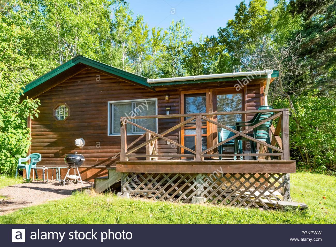 Cabin located a short walk from Lake Superior, near Grand Marais, Minnesota, USA. Stock Photo