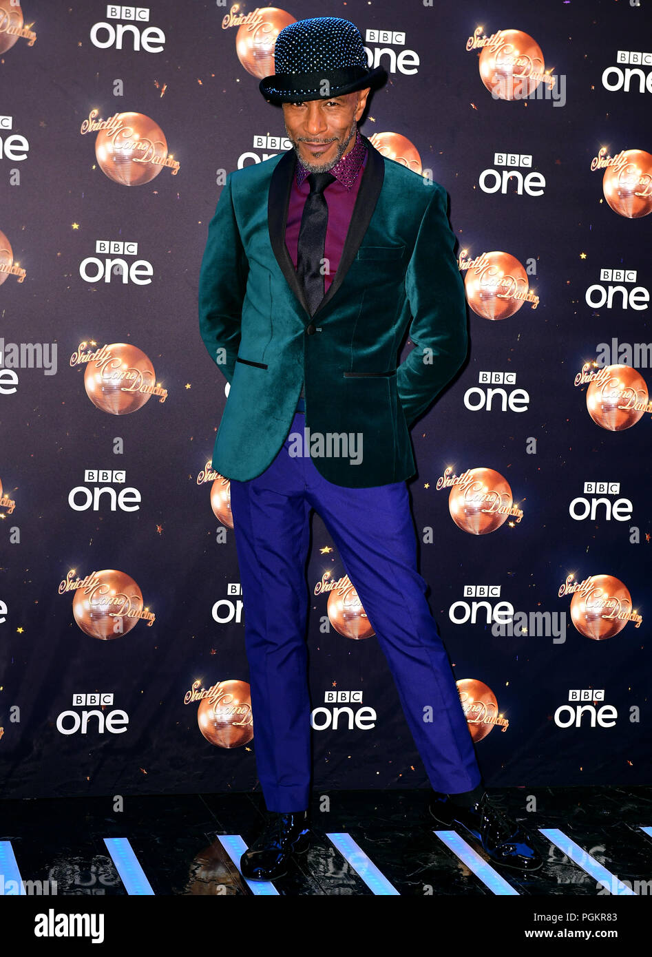 Danny John-Jules at the launch of Strictly Come Dancing 2018 held at The Broadcasting House, London. - Stock Image