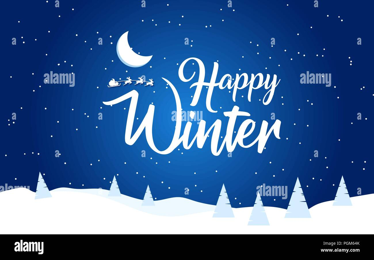 Holiday Winter Background For Merry Christmas And Happy