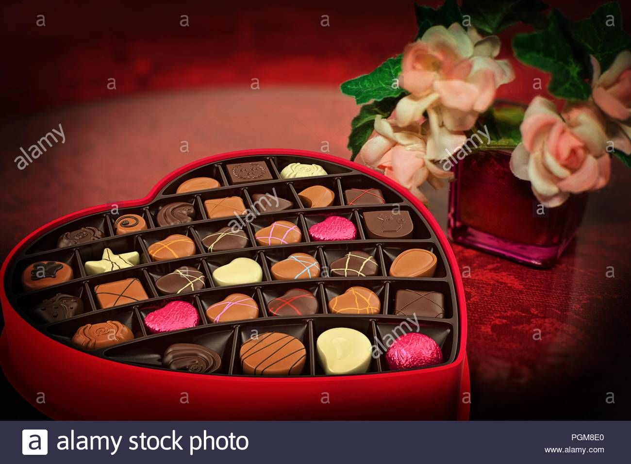 Heart Shaped Chocolate Box Alcohol Surprise Love Couple Romantic
