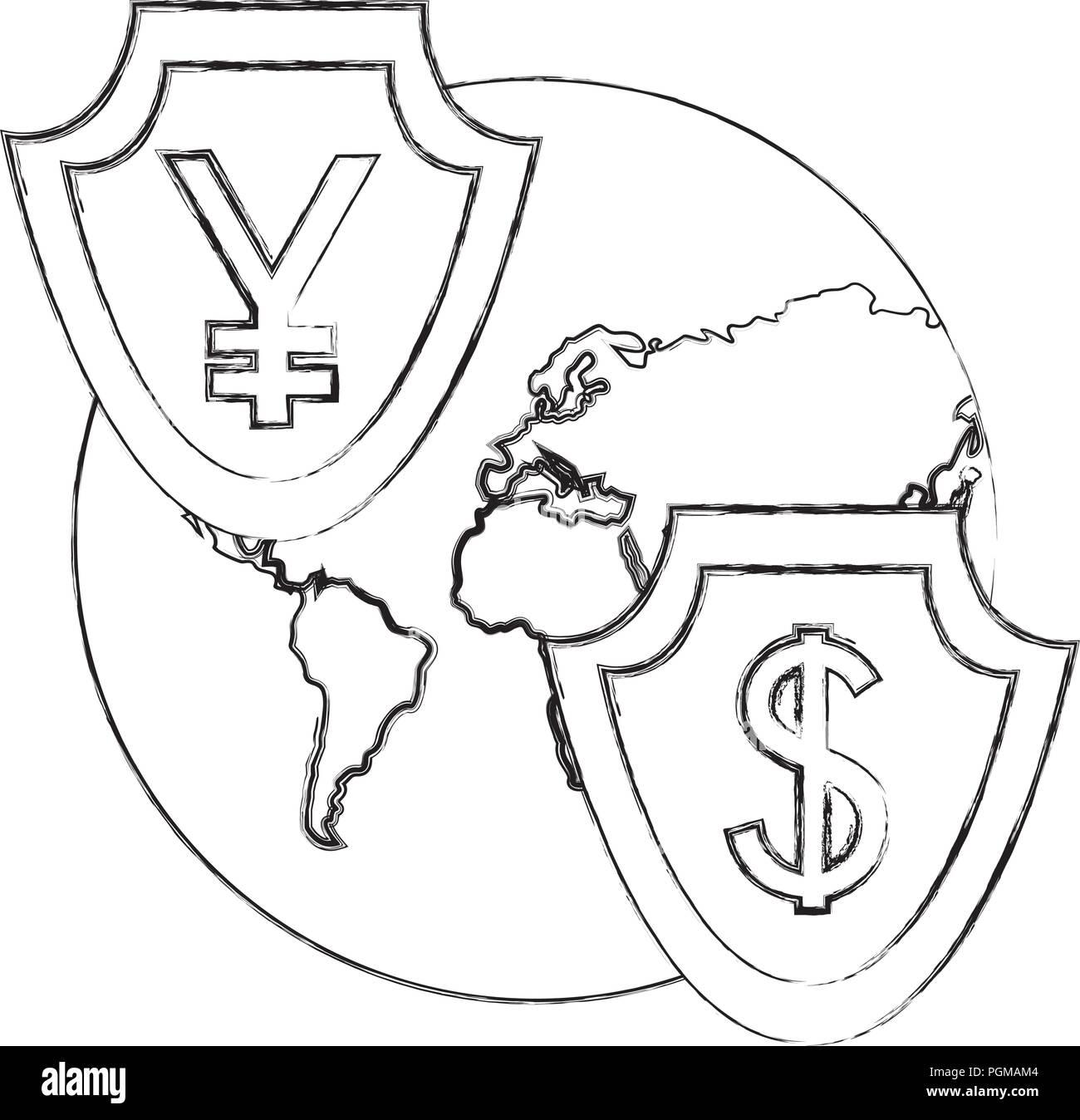 Japanese Yen Symbol Black And White Stock Photos Images Alamy