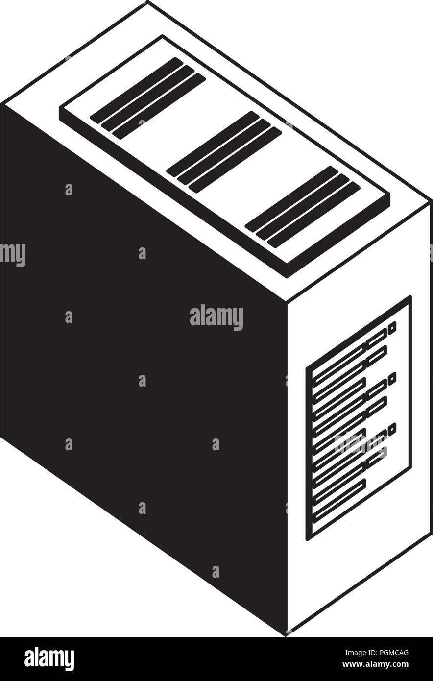 computer server case cpu hardware vector illustration stock vector image art alamy https www alamy com computer server case cpu hardware vector illustration image216807656 html