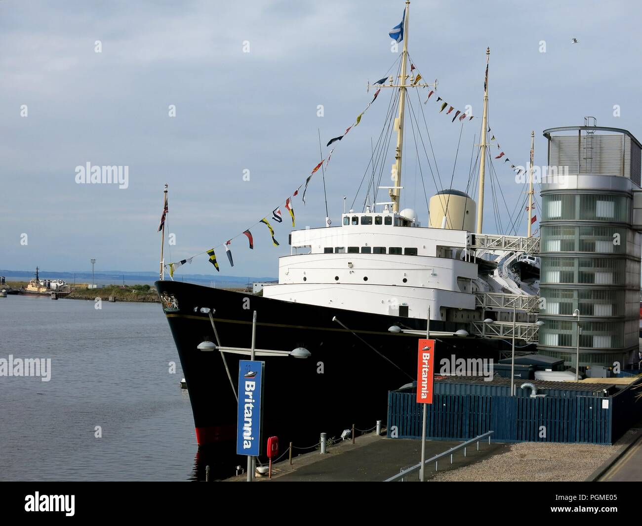 Royal yaght Britannia, Edinburgh, Scotland. - Stock Image