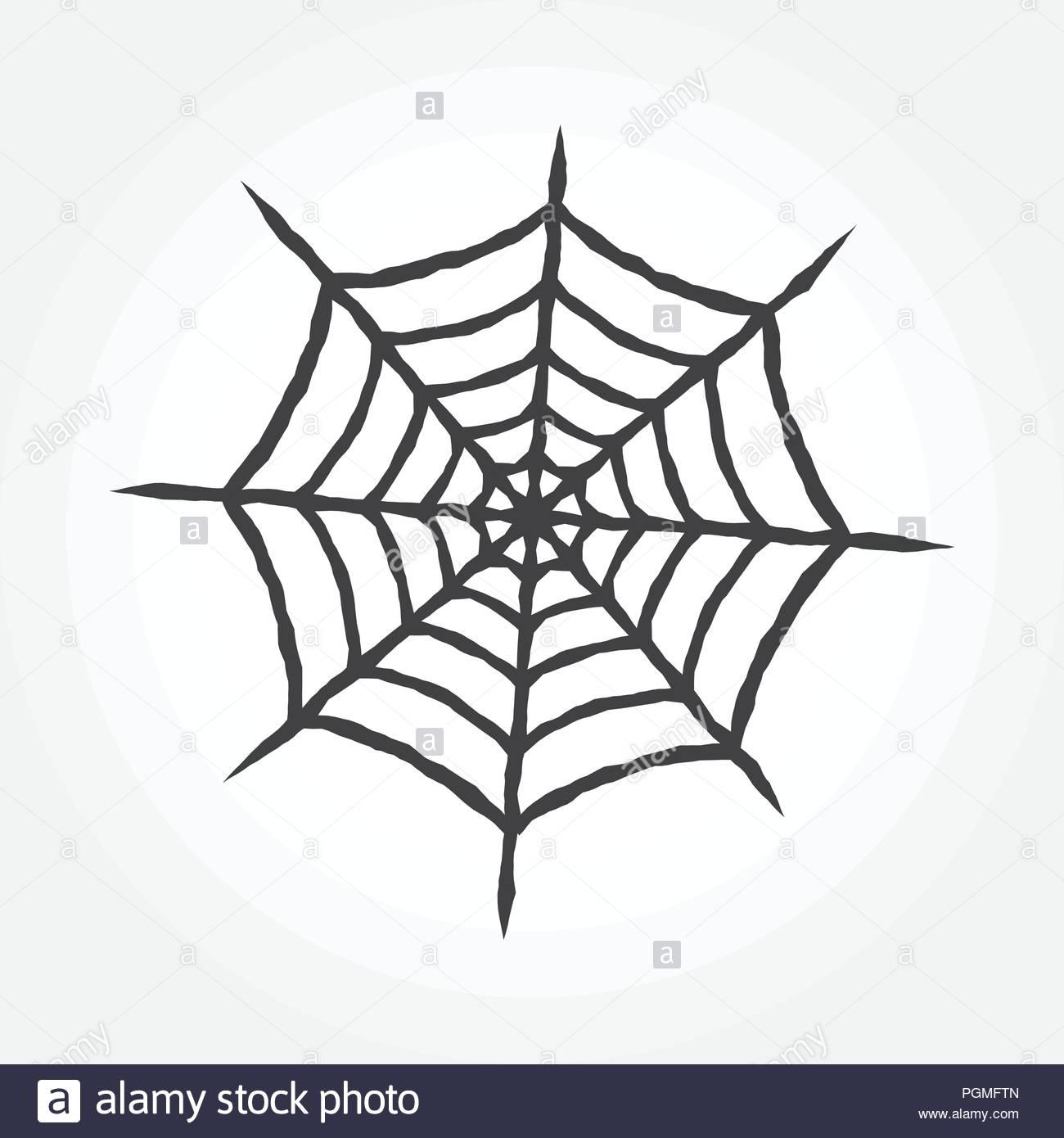 halloween cobweb outline icon spiderweb isolated on white