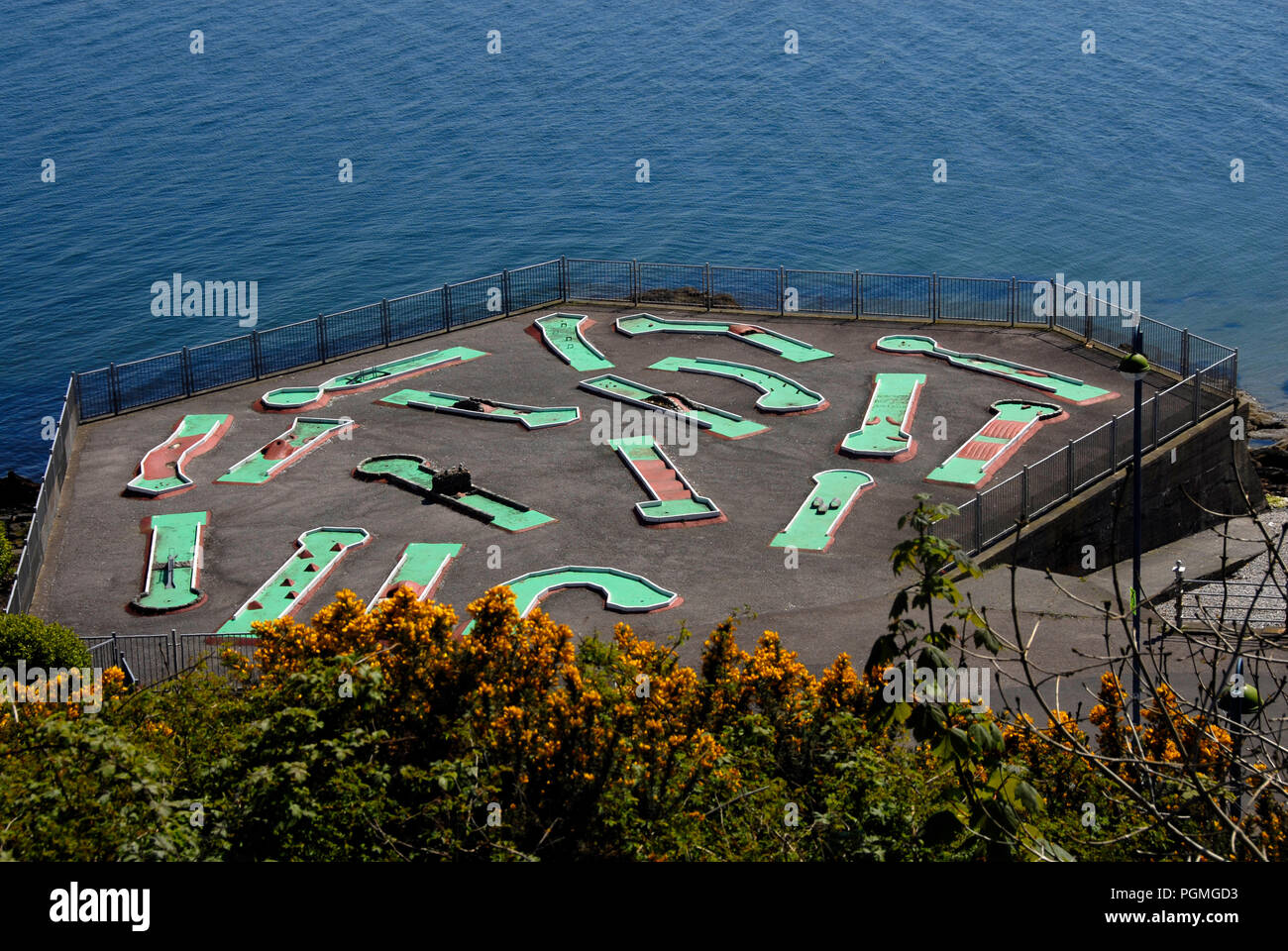 Crazy golf course with no participants, Dunoon, Scotland - Stock Image