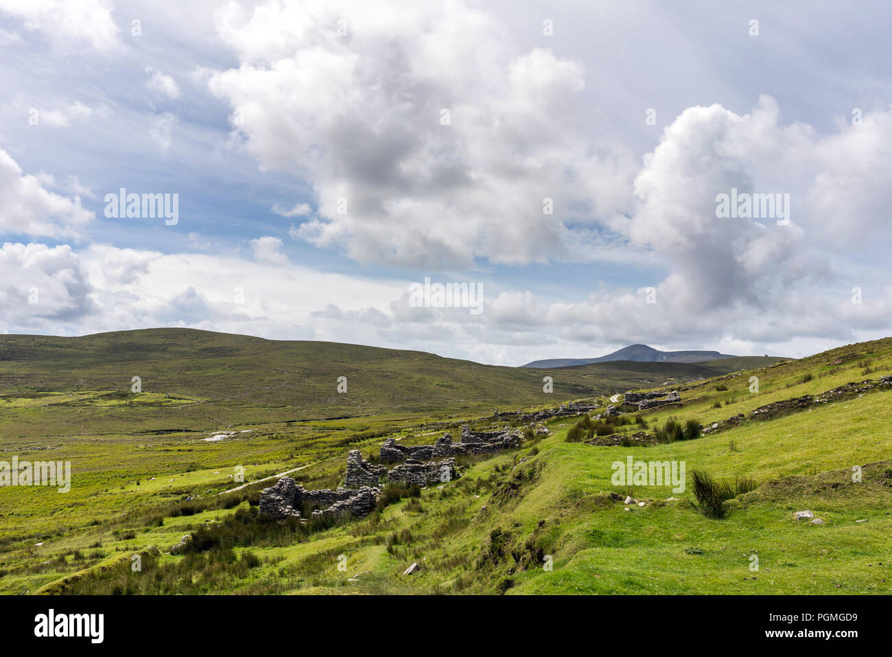 A view of the Abandoned village at Achill Island, County Mayo, Ireland. - Stock Image