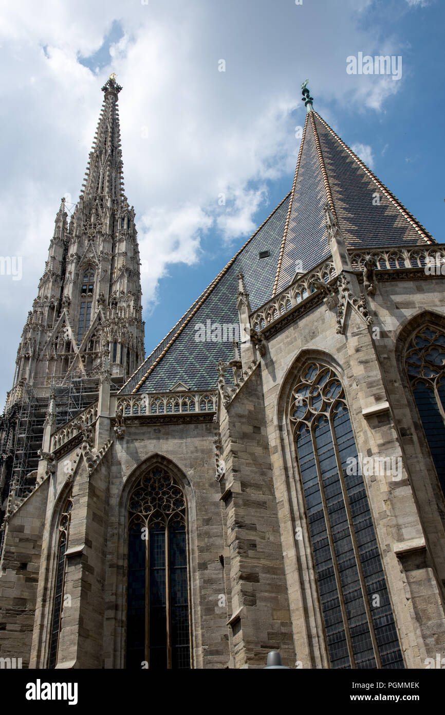 St. Stephen´s Cathedral in Vienna Stock Photo