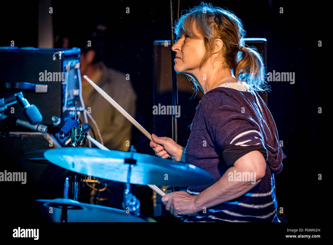 Denmark, Albertslund - August 25, 2018. The American indie rock ...