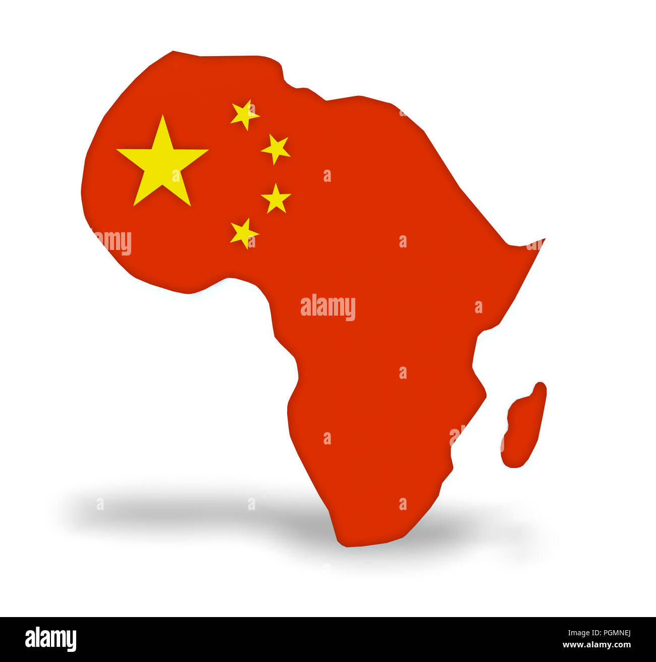 China invest in Africa, 3d illustration - Stock Image