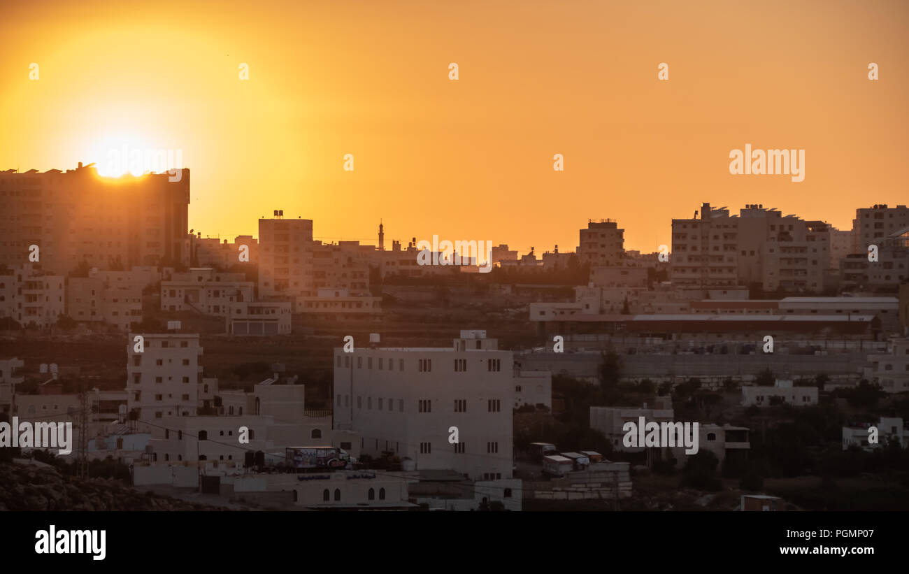 Sunset over Hebron - Stock Image