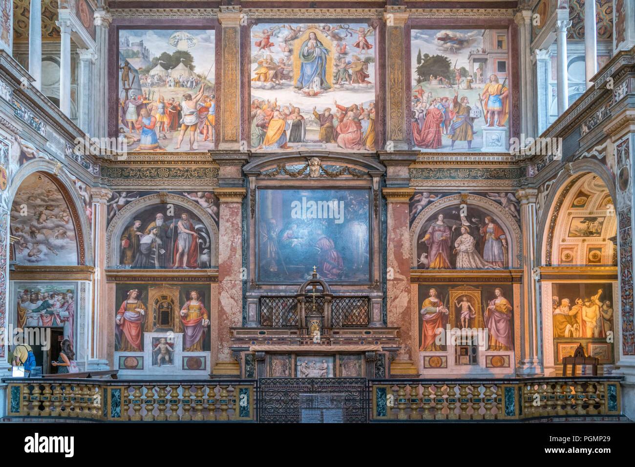 Innenraum der Klosterkirche San Maurizio al Monastero Maggiore, Mailand, Lombardei, Italien  | Church interior,  Saint Maurice al Monastero Maggiore,  - Stock Image