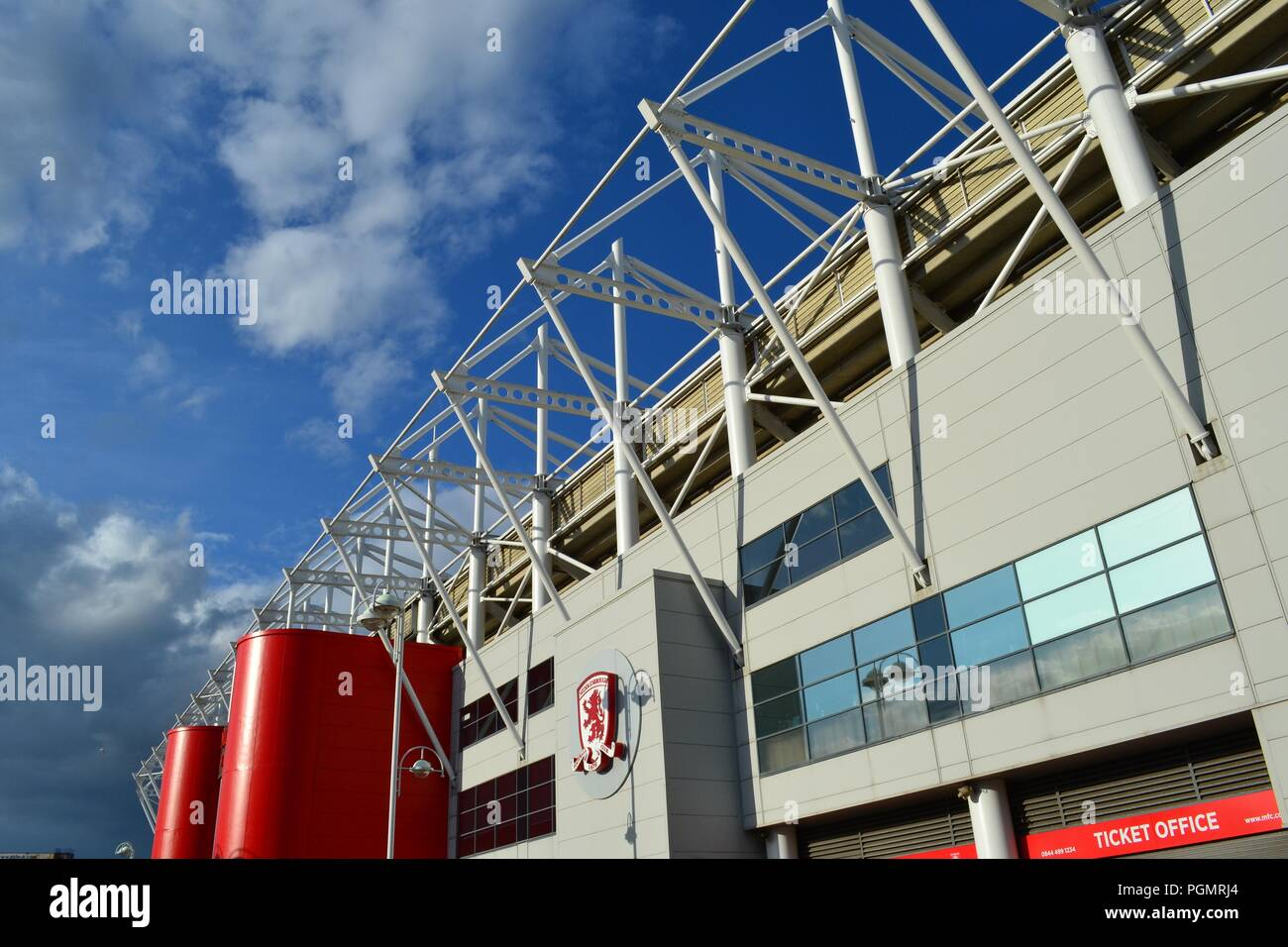 Stunning, naturally lit image of the Riverside Stadium, home of Middlesbrough Football Club. - Stock Image