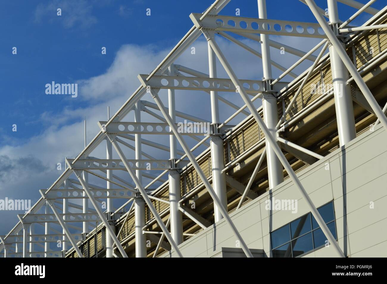 Stunning, naturally lit image of the Riverside Stadium, home of Middlesbrough Football Club. Stock Photo