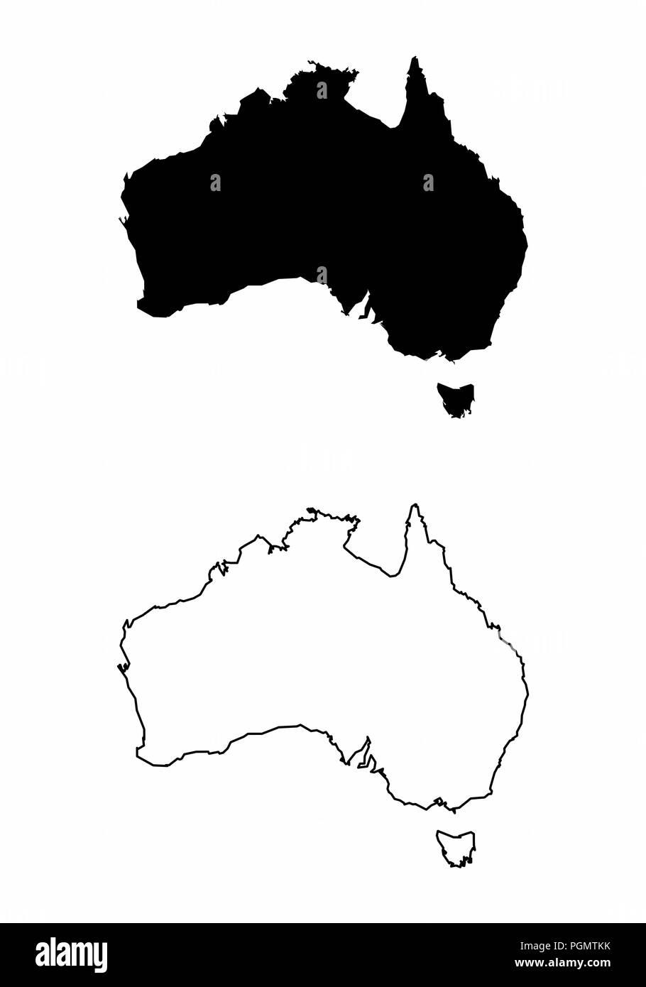 Maps of Australia - Stock Image