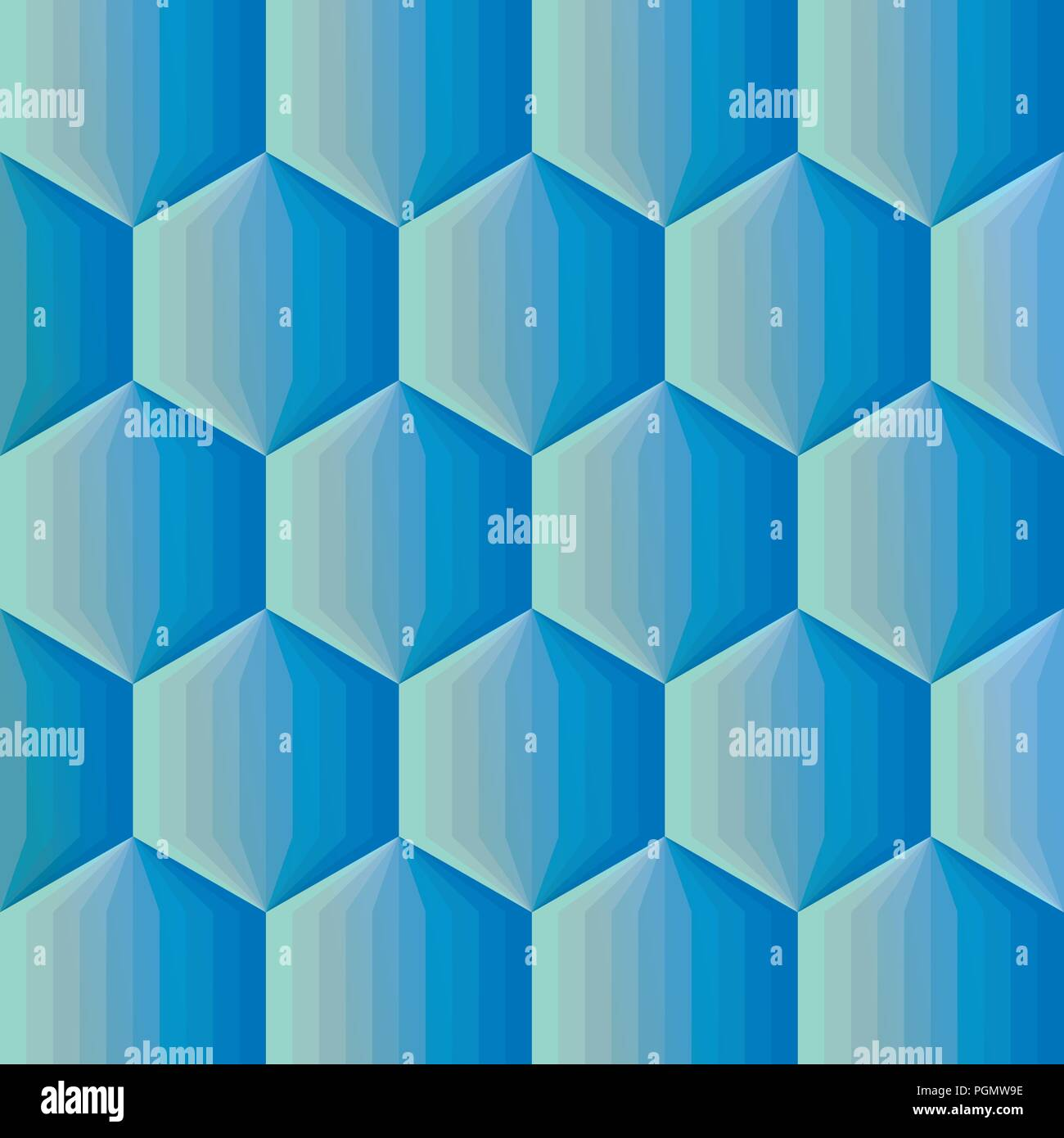 Smooth Color Gradient Hexagon Mosaic Background Vector Illustration