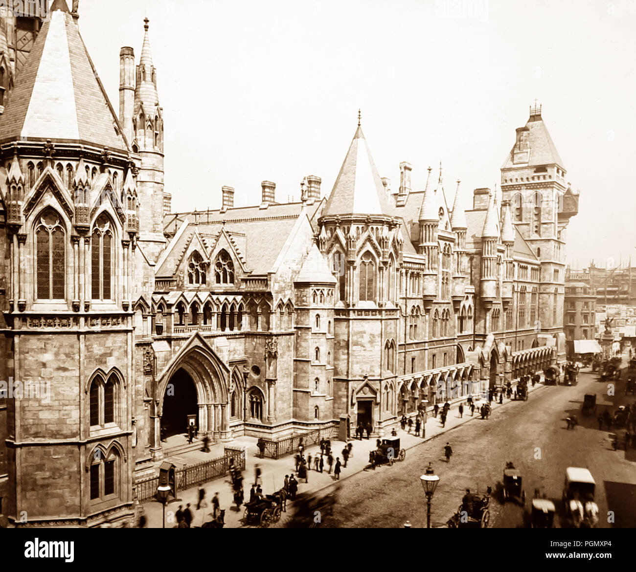 Royal Courts of Justice, London, Victorian period - Stock Image