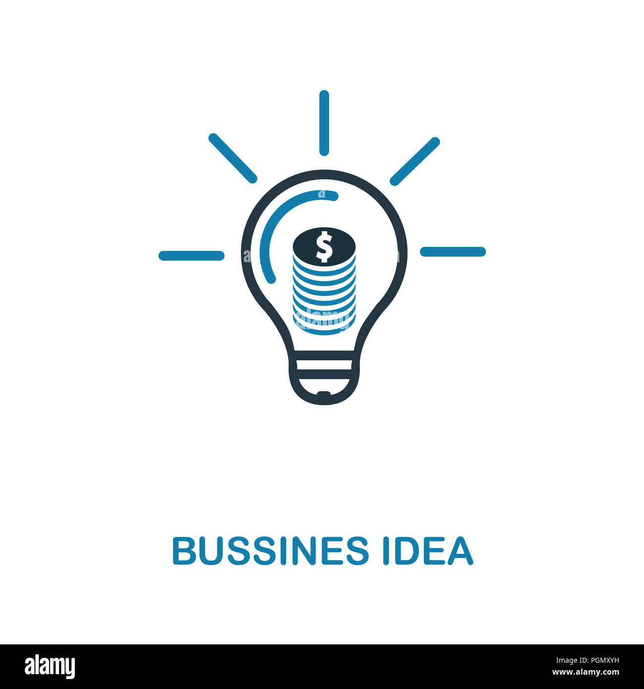 Bussines Idea Creative Icon Simple Element Illustration Concept Symbol Design From Money