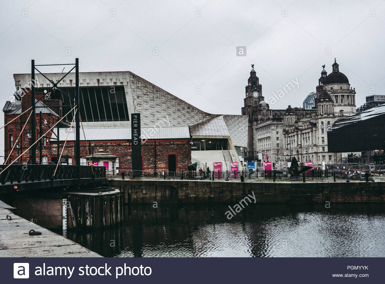 England, LIVERPOOL: some pictures of the city along the Albert Docks with all the museums, the Liverpool Cathedral and some important Beatles' s spot - Stock Image