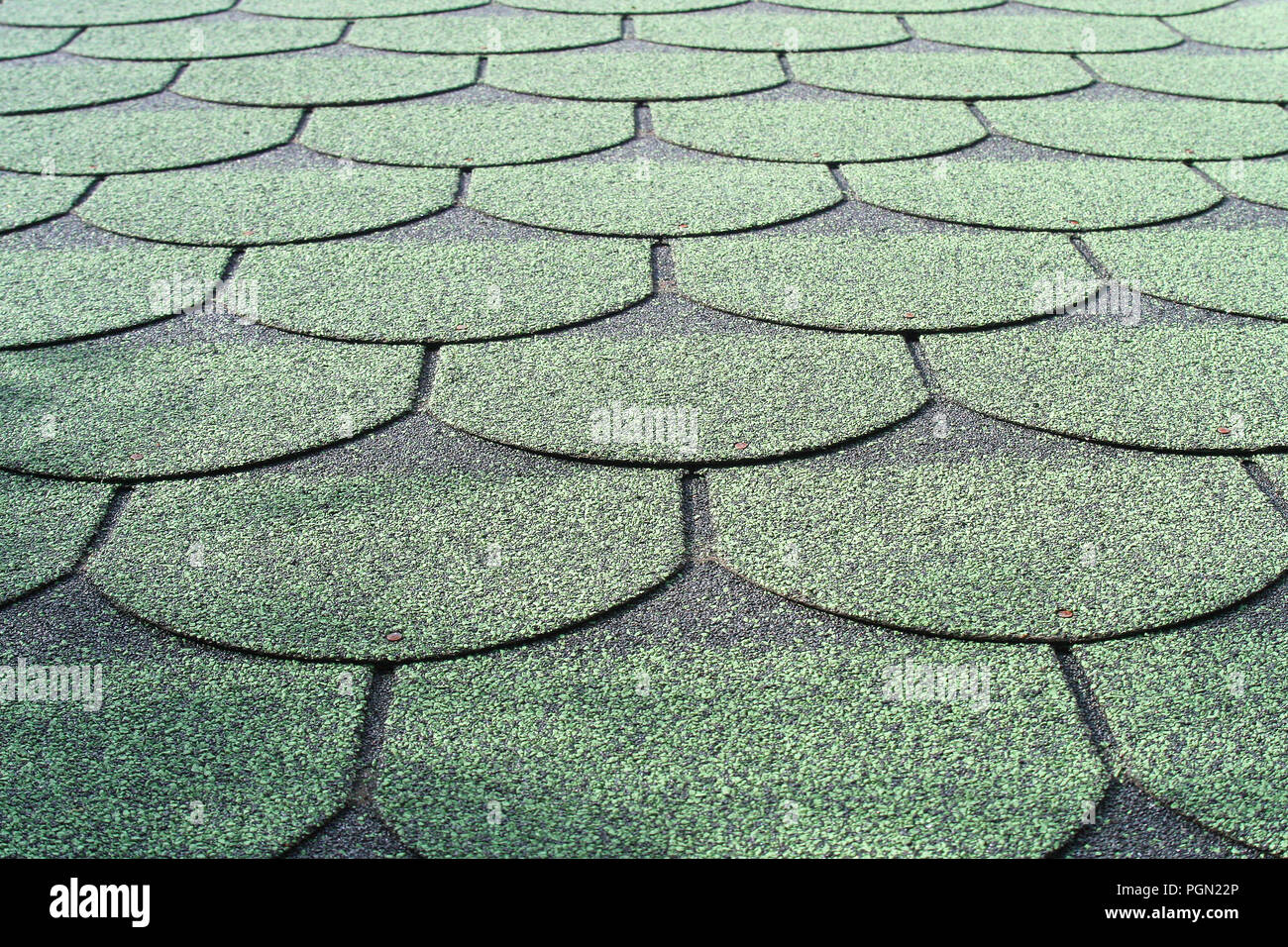 Green shingle background Stock Photo