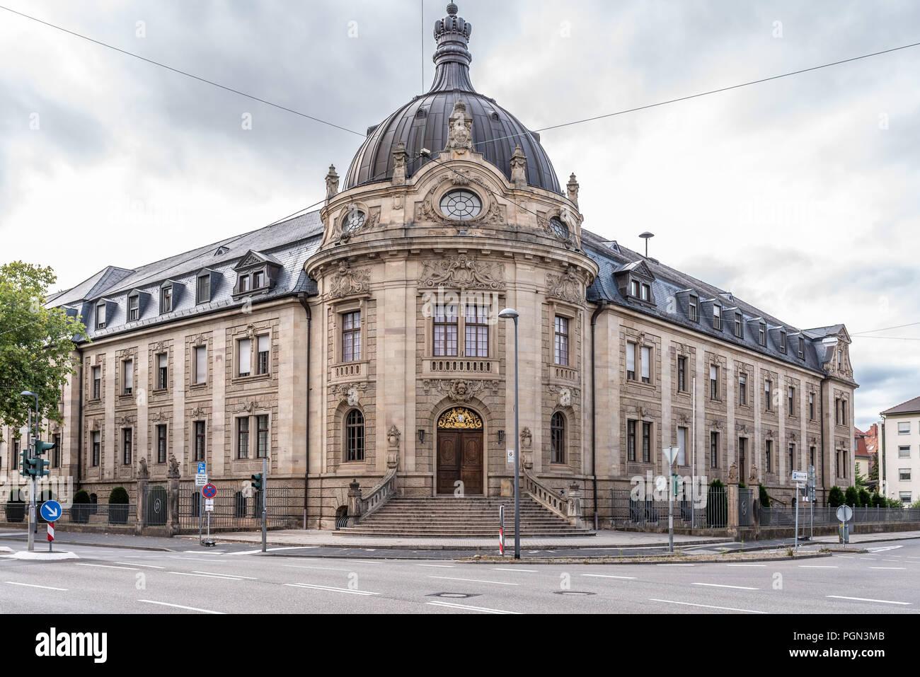 Gesellschaft, Deutschland, Rheinland Pfalz, Landau, Justizgebäude, August 27. Im Landgericht Landau (Rheinland Pfalz) wird aktuell der Prozess um den  - Stock Image