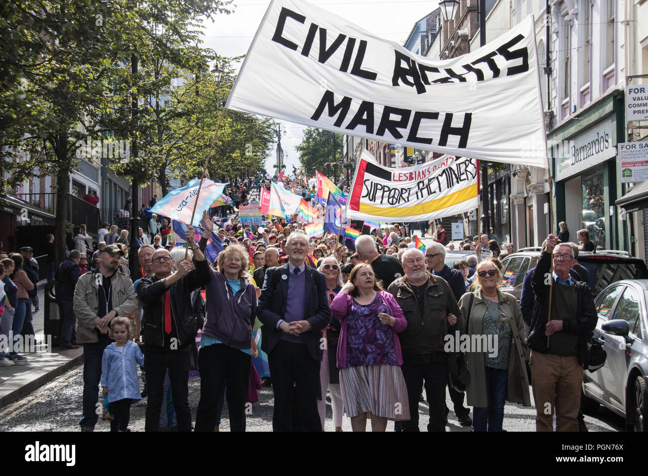 Civil Rights / Pride march - Stock Image
