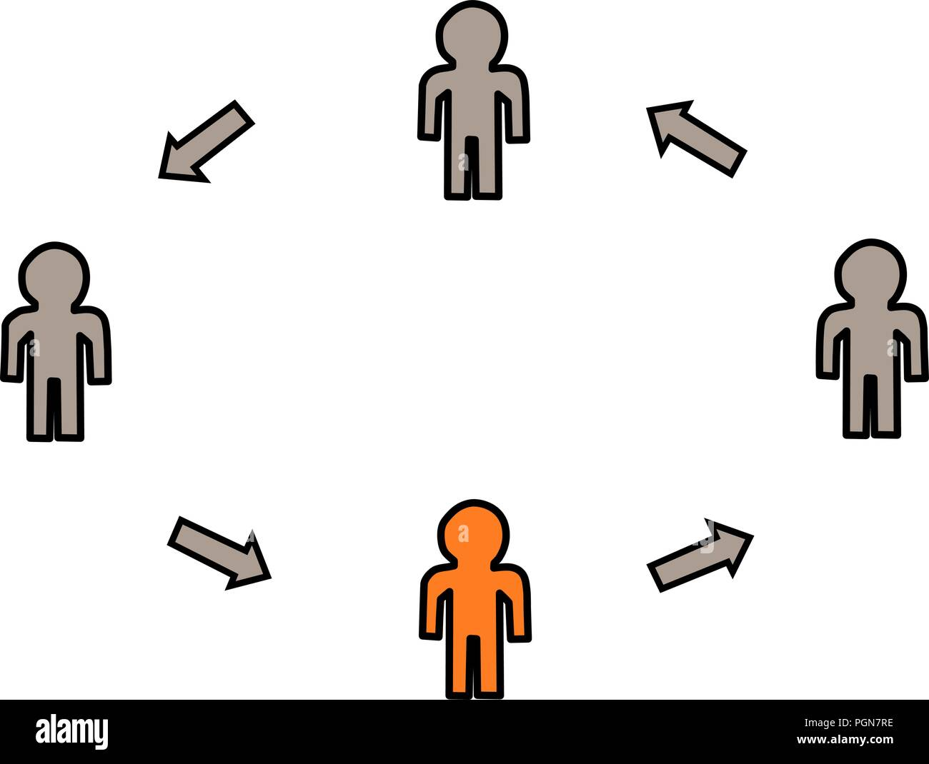 Chart for people to integrate - Stock Vector