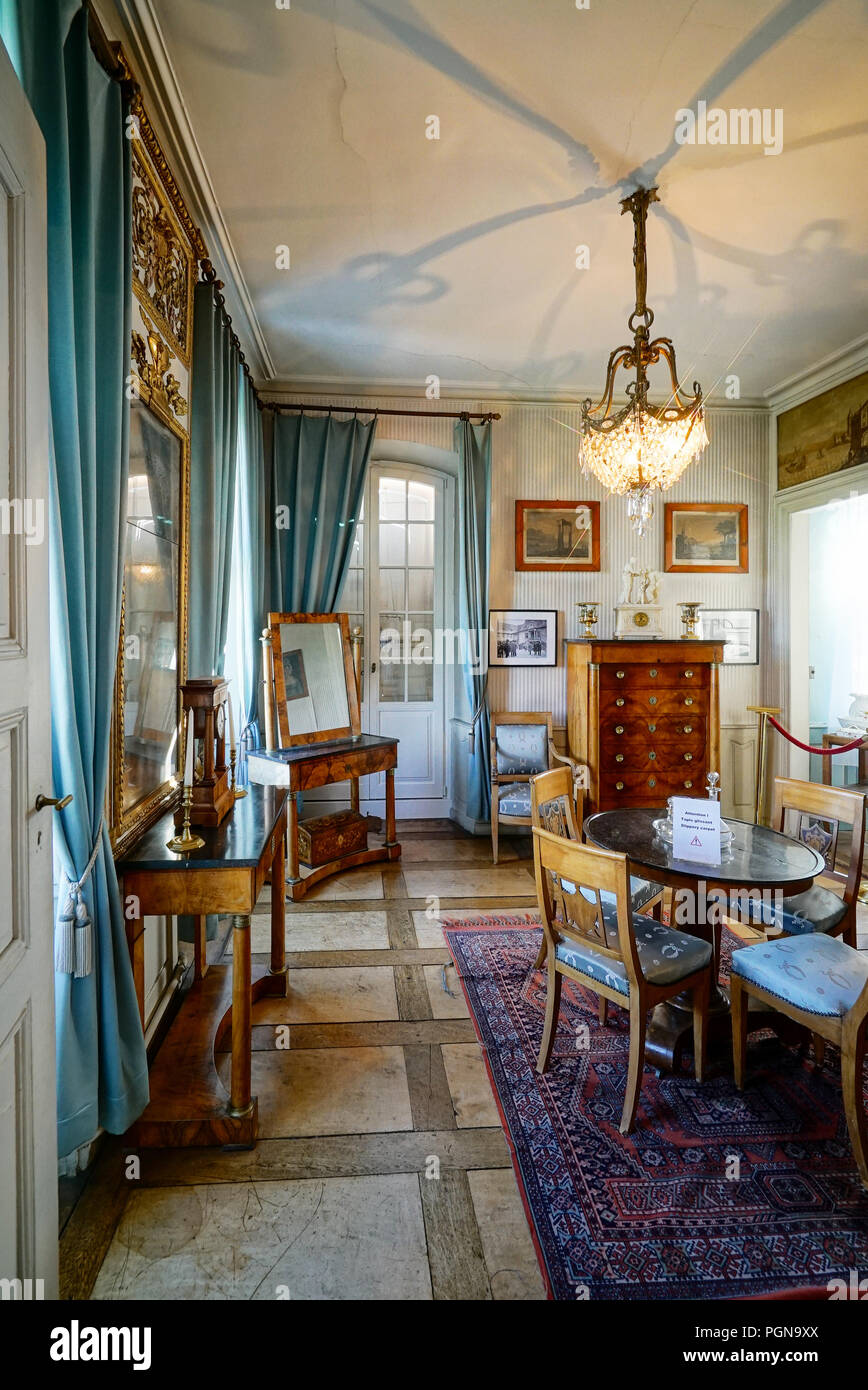 Beautiful Rich Classic Interior Of Xix Century Old House Stock Photo Alamy