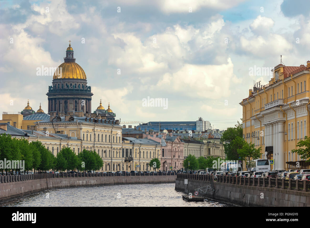 Saint Petersburg city skyline at Saint Isaac Cathedral, Saint Petersburg, Russia Stock Photo