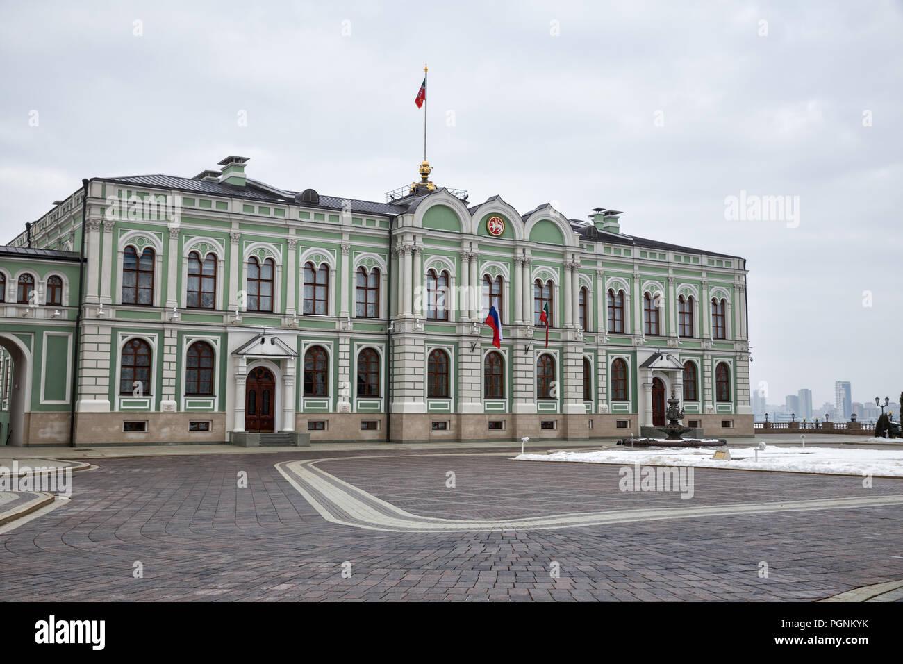 Presidential (former Governor's) Palace in the Kazan Kremlin, Republic of Tatarstan, Russia - Stock Image
