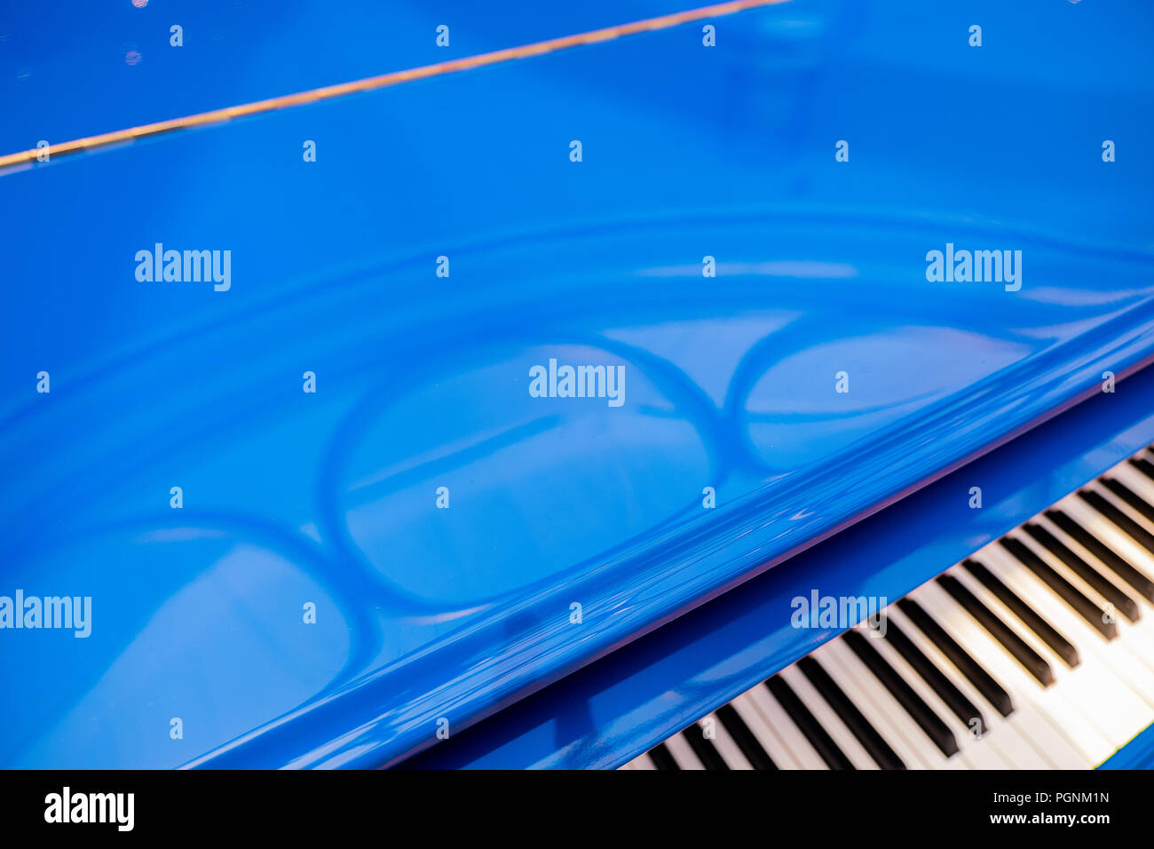 Bright Blue piano Stock Photo: 216835633 - Alamy