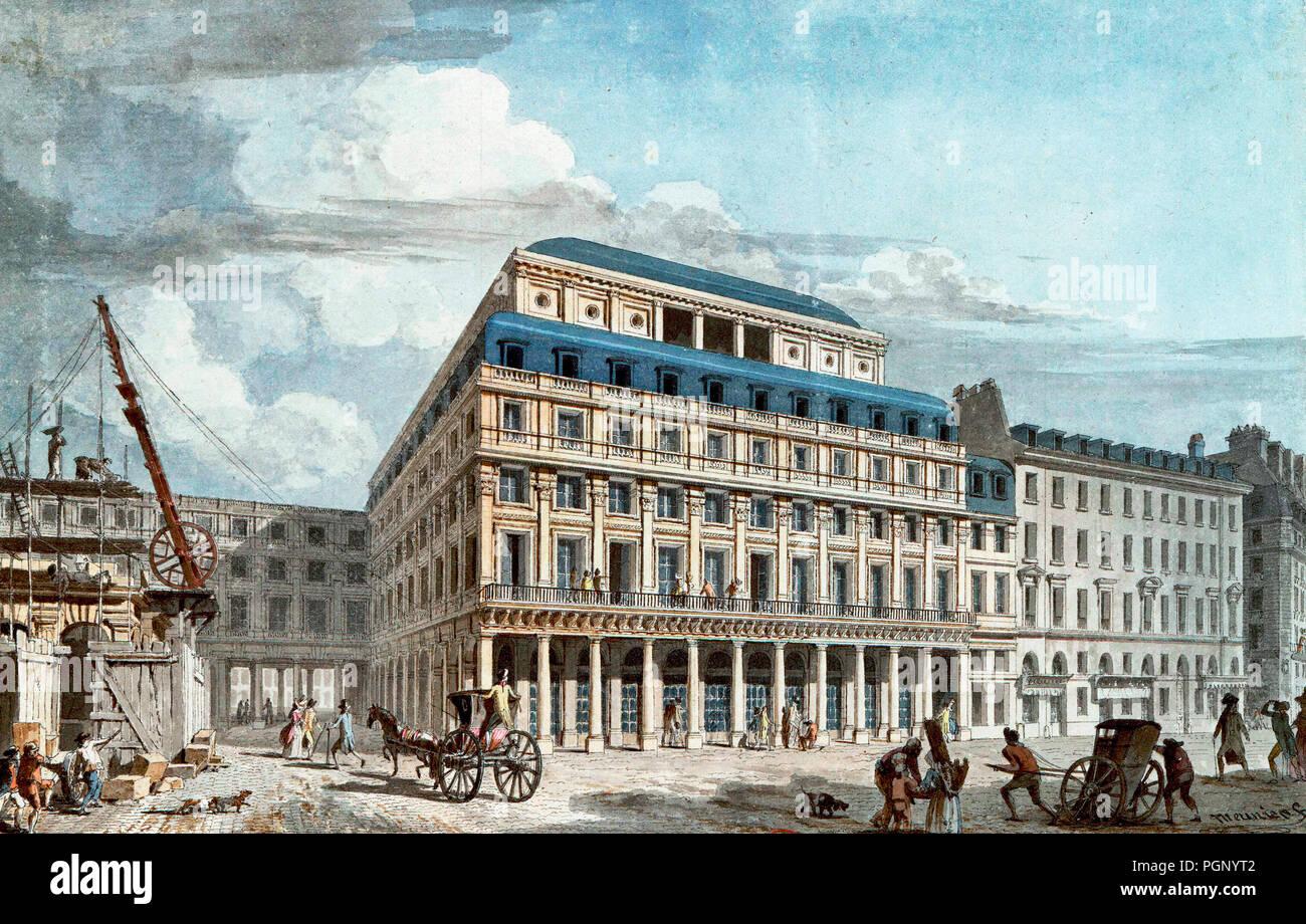 Comédie-Française, Paris, France, circa 1790 - Stock Image