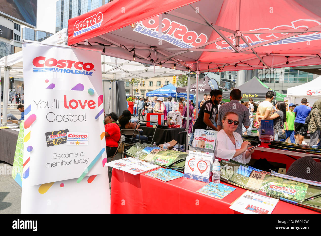 TORONTO, CANADA - AUGUST 4, 2018: TASTE OF THE MIDDLE EAST