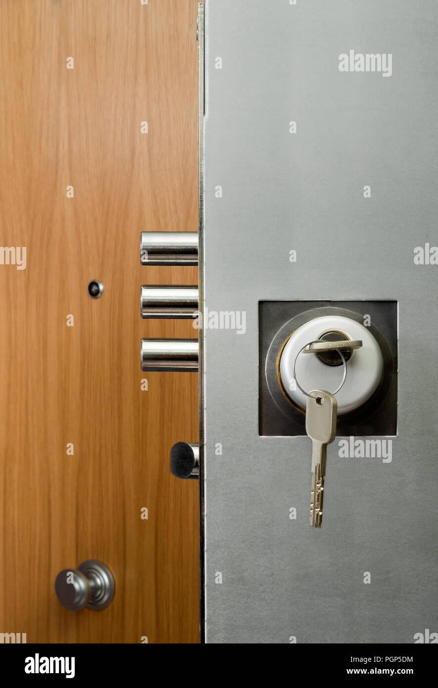 Interior Door Security Lock With Keys Stock Photo 216846160 Alamy