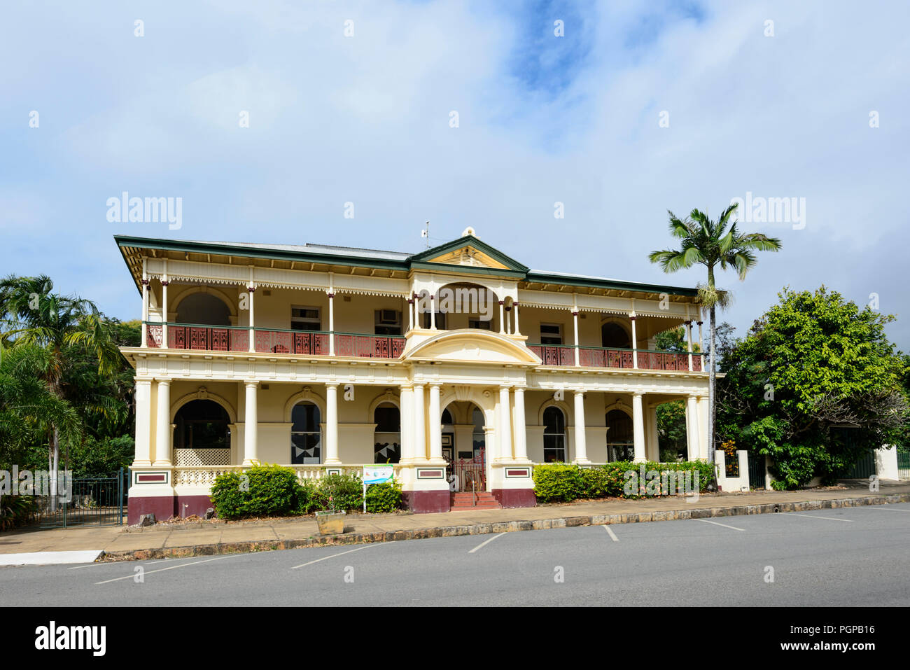 Old imposing colonial building in Cooktown, Far North Queensland, FNQ, QLD, Australia - Stock Image