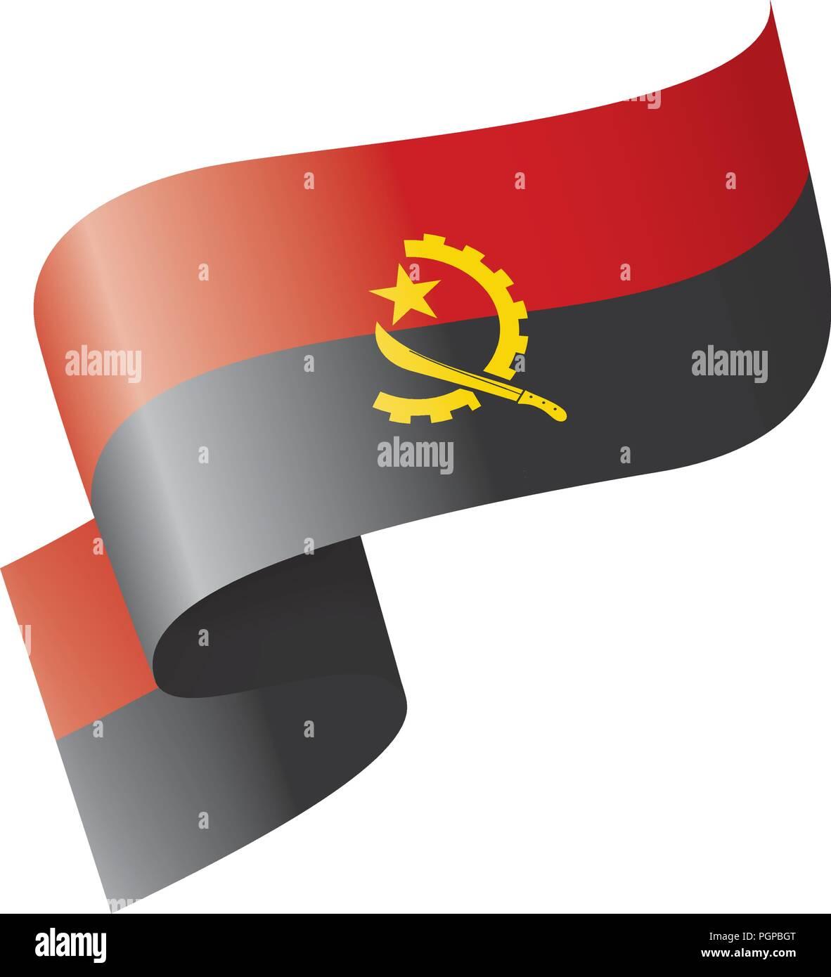 Angola flag, vector illustration on a white background - Stock Image