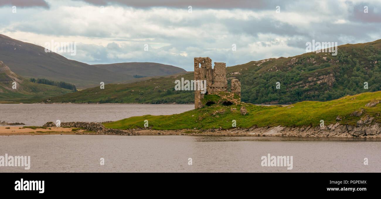 Ardvreck Castle Scotland - Stock Image