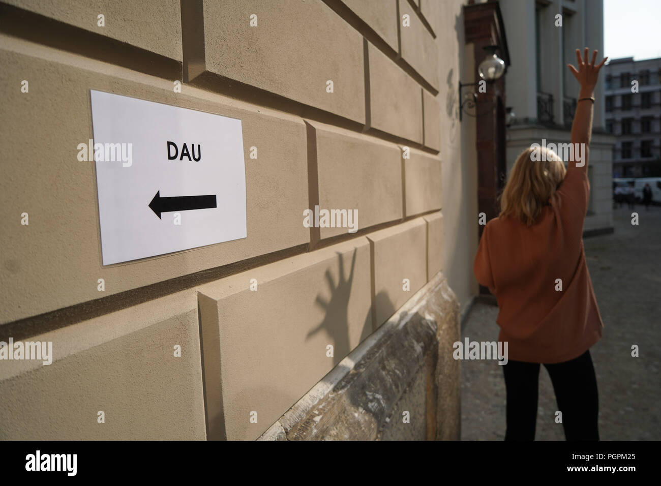 Germany Berlin 28th Aug 2018 A Signpost With The Inscription Dau